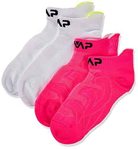 CMP Kinder Füßlinge Socken, Bianco-Pink Fluo, 31/33