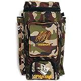 Spartan Ms Dhoni Cricket Kit Camouflage Backpack- Orange Print