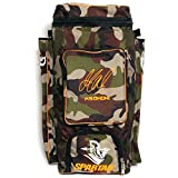 #10: Spartan Ms Dhoni Cricket Kit Camouflage Backpack- Orange Print