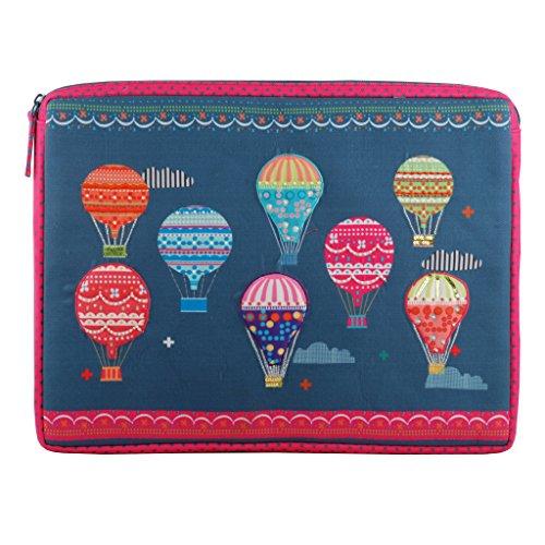 Pinaken Laptophülle für MacBook Air Dell Toshiba Sony Samsung Acer HP Chromebooknotebook iPad Pro 12,9 Zoll (30,48 cm), Mehrfarbig High on Happiness - Baumwolle Bestickt Verziert Top