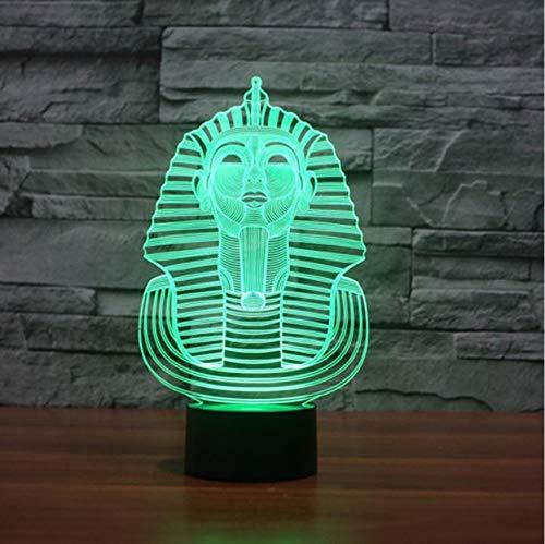 Nachtlicht Valentinstag 7 Farbwechsel Stimmung Tischlampe Visuelle 3D Usb Led Ägyptische Sphinx Pharao Schlaf Nachtlicht Beleuchtung Kinder Spielzeug Weihnachtsgeschenk