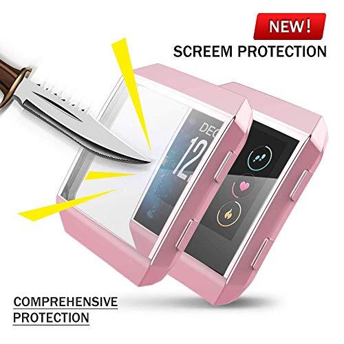 Für Fitbit Ionic Hülle, KTcos TPU Schutzfolie Allround-Schutzhülle High Definition Clear Ultradünne Schutzhülle für Fitbit Ionic Smart Fitness Watch (Rosenpulver)