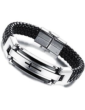 Jewow Schmuck Edelstahl Kreuz Herren Armband 22CM