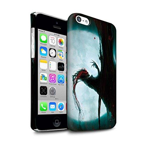 Offiziell Chris Cold Hülle / Matte Snap-On Case für Apple iPhone 5C / Kriegsheld/Warlock Muster / Dämonisches Tier Kollektion Dramargu/Vollmond
