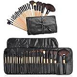 Everbuy 24 Pieces Makeup Brushes Set Cosmetic Brushes Professional Face Eye Shadow Eyeliner Foundation Blush Lip