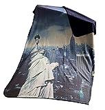 Leonado Vicenti Kuscheldecke Freiheitsstatue USA 130x160 cm Blau Grau Tagesdecke Fotodruck Wendedecke