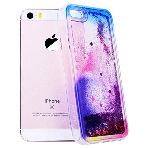 GrandEver iPhone SE 5S 5 Hülle Weiche Silikon Handyhülle TPU Bumper Schutzhülle für iPhone SE 5S 5 Rückschale Klar Handytasche mit Regenbogen Muster Anti-Kratzer Stoßdämpfung Ultra Slim Rückseite Sili Color C