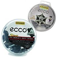 Ecco Champ - Softspikes für Golfschuhe Schwarz/Silber