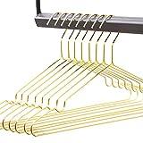 rod & knot Design - Grucce Appendiabiti in Filo Molto Stabile, 8 Pezzi Gold
