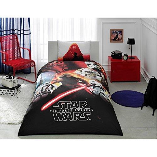 Star Wars Bettwäsche-Set NEU Lizenzprodukt 100% Baumwolle/Star Wars Twin Size Bettbezug Set/Star Wars Bettwäsche Set 3pcs (Star Wars Bettwäsche Twin)