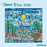 James Rizzi Broschurkalender - Kalender 2020 - teNeues-Verlag - Wandkalender mit Platz für Eintragungen - 30 cm x 30 cm (offen 30 cm x 60 cm)