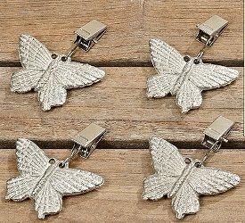 Poids pour nappes papillons en métal