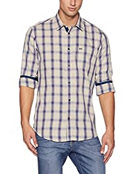 Arrow Sports Mens Plain Regular Fit Cotton Casual Shirt (8907538719751_Beige_40)