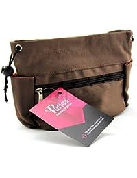 Periea - Sac de rangement/Pochette/Organisateur intérieur pour sac à main , 8 poches 26x18x8cm - Olivia marron