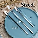1Pc Coffee Sand Ice Stirring Spoon Cubiertos de Acero Inoxidable Cubiertos (Silver L) Oficinas