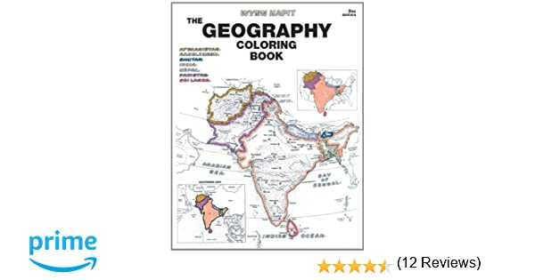 geography coloring book amazoncouk wynn kapit 9780131014725 books - Geography Coloring Book