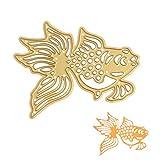 Meipai Stanzformen Schablonen Album Album Papierkarte Prägung Diy - Handwerk (goldener Fisch)