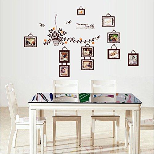 new-saturday-monopoly-diy-home-decor-bird-photo-frame-sticker-pvc-decals-art-removable-living-room-b