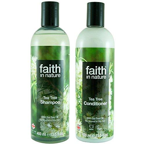 Faith In Nature Tea Tree Shampoo 400ml & Conditioner 400ml Duo