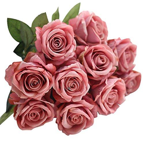 malloom-5-pices-de-flanelle-de-faux-roses-artificielles-bouquet-de-marie-fleur-mariage-fte-dcoration