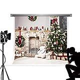 Kate 2.2x1.5m telón de fondo de fotos de árbol de Navidad chimenea calcetín fondo Photocall Navidad decoración para Fond Studio