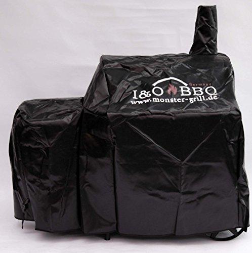 I&O BBQ ® Wetterschutzhaube/Abdeckhaube für I&O BBQ ® Smoker 'Cajun' aus LKW-Plane mit Logo