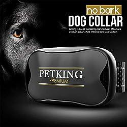 No Bark Dog Collar - Anti Bark Device for Small Medium Large Dogs | Stop Excessive Barking - No Shock or Spray | Safe & Humane Anti-Bark Aids | Harmless Beep + Vibration Anti-Barking Training Collars