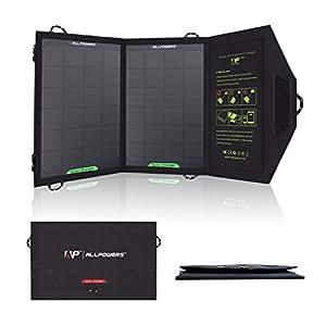 XDPowers Panneau solaire portable et pliable 8W pour iPad, Ipod, téléphone portable, iPhone, Samsung, Blackberry, OPPO, LG, PDA, Mp4, GPS, appareil photo numérique, caméra, PSP, casque Bluetooth et autres appareils USB compatibles