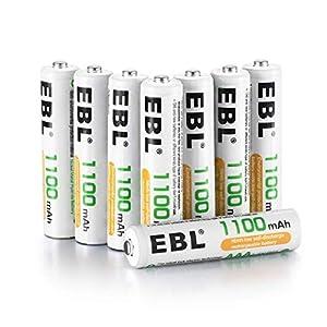 recargable: EBL 1100mAh AAA Ni-MH 1200 Ciclo de Pilas Recargables para los Equipos Doméstico...