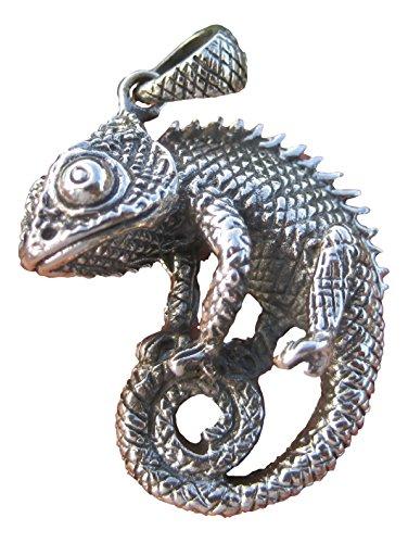 Kettenanhänger aus 925erSilber Gecko-, Chamäleon-, Eidechsen-Form, von Jackson, Schmuckkunst