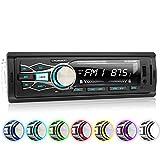 XOMAX XM-RSU256BT Autoradio mit Bluetooth Freisprecheinrichtung, 7 Farben einstellbar, USB bis 128 GB, SD bis 128 GB, FM Radio Tuner, MP3 und WMA, AUX IN, 4 x 60 Watt, abnehmbares Bedienteil, 1 DIN