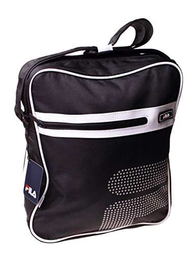 Fila Black Messenger Bag Travel Office Shoulder Satchel School Gift Handbag Camp