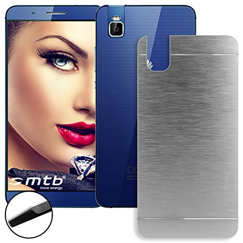 mtb More Energy® Estuche Duro de Metal Cepillado Huawei Shot X/Honor 7i (5.2'') | Plata | Case Cover Carcasa Cascara