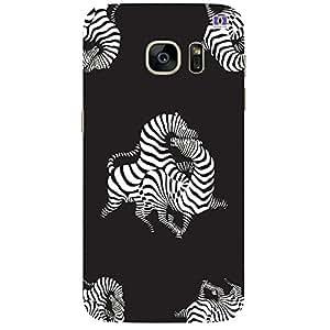 White Zebra - Mobile Back Case Cover For Samsung Galaxy Note 7