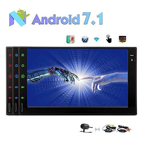 "Android 7.1 Auto-Stereo 2GB 32GB Octa-Core In Dash Navigation Doppel-DIN-7"" Full-Screen-Radio Auto Car Audio mit Bluetooth WiFi Spiegel Verbindung mit Wireless-Backup-Kamera !!!"