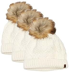 SCHÖFFEL bonnet chapeaux caps tenies lot de 3–whisper white, one size, 1140 11248 20 0