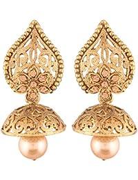 I Jewels High Gold Plated Jhumki/Jhumkas Earrings For Women (E2431FL)