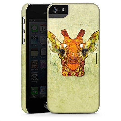 Apple iPhone X Silikon Hülle Case Schutzhülle Giraffe Muster Wasserfarbe Premium Case StandUp