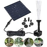 Bomba de fuente solar GOCHANGE panel solar estanque bomba de agua bomba de agua sumergible bomba de agua para fuentes de estanque con 4 boquillas