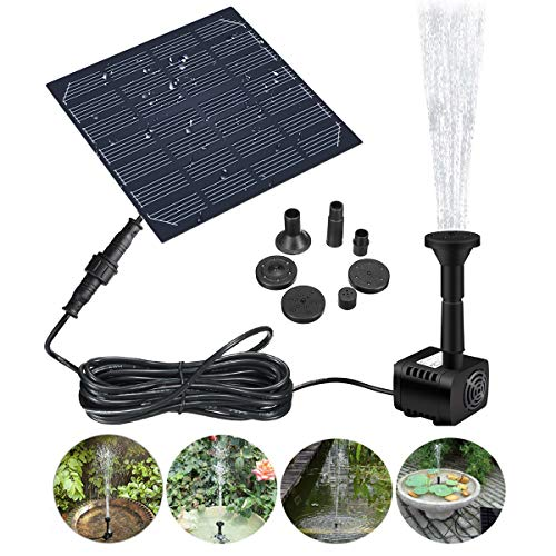 Solar Fountain Pump,GOCHANGE Solar Panel Pond Pump Water Feature Pump / Water Pump Submersible Pump for Pond Fountains…