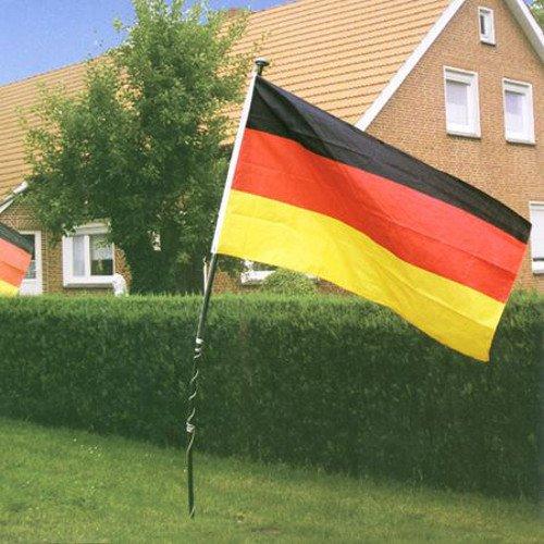 Buri Deutschland-Fahne 150x90cm Fußballfahne Gartenfahne Balkonfahne Fanartikel