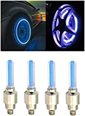 AutoStark Blue Car Tyre Led Light With Motion Sensor Set of 4 For Hyundai Accent