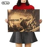 Uniqus Tie LER Nostalgic Rock Band Linkin Park B Style Kraft Paper Cafe Bar Poster Retro Poster Decorative Painting 51x36cm