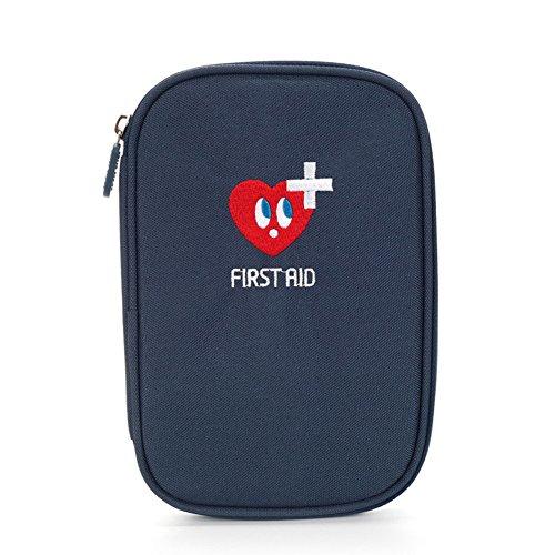 Erste Hilfe Set,Lifesport Verbandkasten Erste-Hilfe-Koffer First Aid Kit Notfalltasche Medizinisch Tasche Oxford Tuch Medicine Pouch für Haus Auto Camping Jagd Reisen Natur und Sport (Dunkelblau)