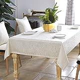 QTQHOME Style Ethnique Table à Manger Nappe,Méditerranée Antique Rectangulaire Circulaire Nappe Coffee Table Exotiques Nappe De Table-Beige 120 * 170cm