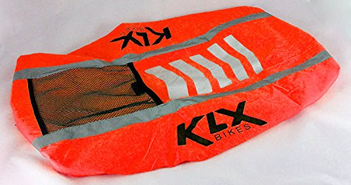24003b62cd92 KLX Heavy Duty High Visibility Reflective Waterproof Rucksack Backpack Cover  - New Improved (Orange)