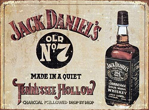 WallAdorn Jack Daniels Eisen Poster Malerei Blechschild Vintage Wanddekor für Cafe Bar Pub Home Bier Dekoration Handwerk - Jack Lichter Daniels