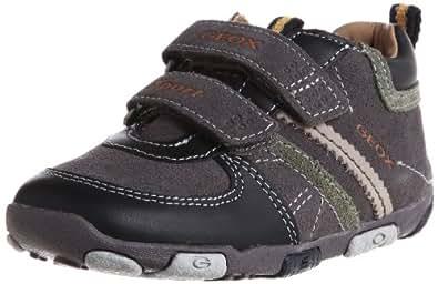 Geox Baby Balu' Boy B2436X02243C0062, Jungen Lauflernschuhe, Grau (dk grey/black C0062), EU 19