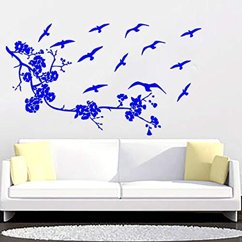 Kreative Vinyl Wandtattoos Schlafzimmer Kunst Blumen Und Mehr Vögel Pflanzen Traditionellen Chinesischen Wandaufkleber Kinderzimmer H 114 * 200 cm - Traditionelle Holly