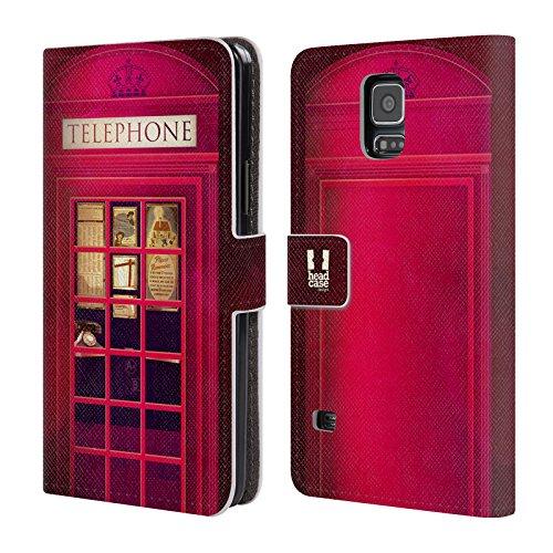 Head Case Designs K2 I Love London Leder Brieftaschen Huelle kompatibel mit Samsung Galaxy S5 / S5 Neo (London S5 Samsung Case Galaxy)